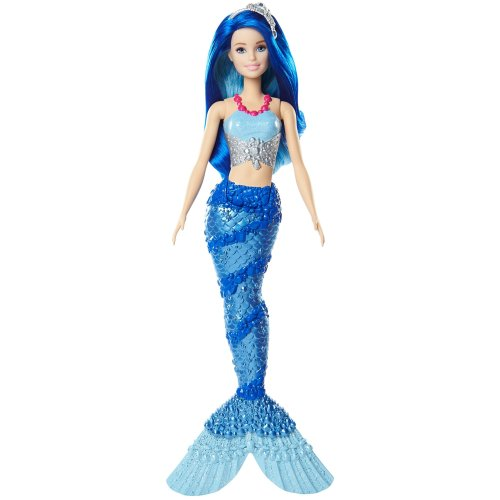 Barbie FJC92 Fantasy Sparkle Mountain Mermaid Caucasian Dreamtopia, Long Hair, Colourful Tail, Bath Play, Gift for 2 to 5 Years Children Dolls