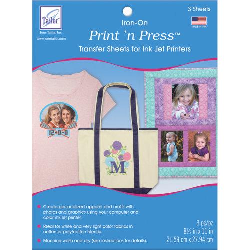 "Print 'n Press Iron-On Transfer Paper 8.5""X11"" 3/Pkg-White"