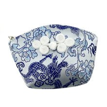 Set of 2 Traditonal Chinese Embroidered Jewelry Coin Pouch Bag Wallet Purses   H