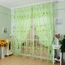 Tulips Flower Voile Door Curtain Panel Window Room Divider Sheer Curtain Home Decor