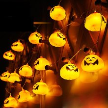 2.7M 16 LED Halloween Pumpkin String Lights