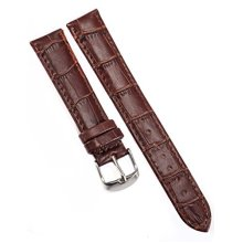 AMPM24 18mm Watch Band Brown Pu Leather Strap Belt