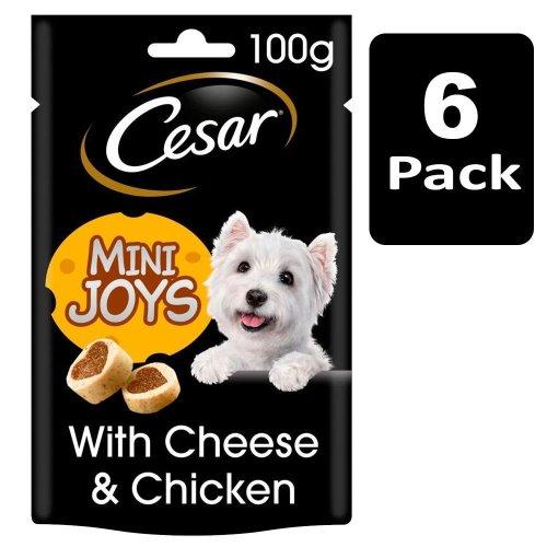 CESAR Mini-Joys Dog Treats Cheese & Chicken 6x100g