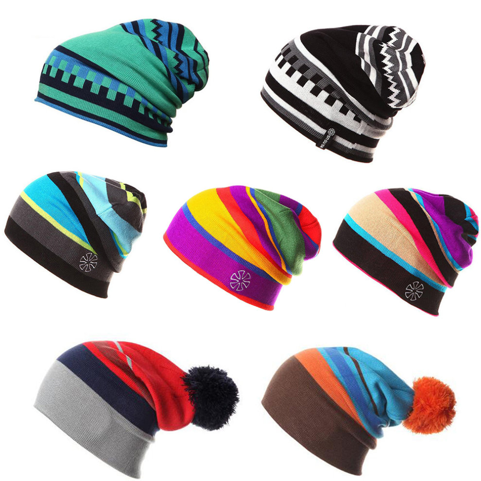 0bb46b58d1b92 ... Outdoor Sports Knitting Cap Stylish Adult Skiing Cap Chromatic Keep  Warm Snow Hat NO.25.