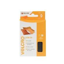 VELCRO Brand Sew On Tape - 20 mm x 1 m, Black