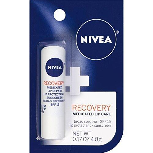 Nivea, A Kiss of Recovery, Medicated Lip Repair, SPF 15, (4.8g)