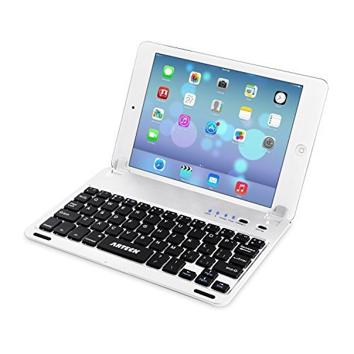Arteck Ultra-Thin Apple iPad Mini Bluetooth Keyboard Folio Case Cover with Built-In Stand Groove for Apple iPad Mini 3 / 2 / 1 / iPad Mini with...