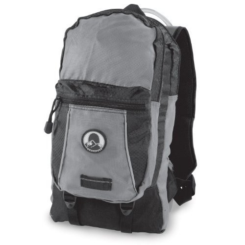 Stansport Red Wall Hydration Backpack, 2-Liter, Black/Gray
