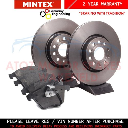 BMW 3 Series E92 330d 09-13 Grooved Front Brake Discs /& Pads
