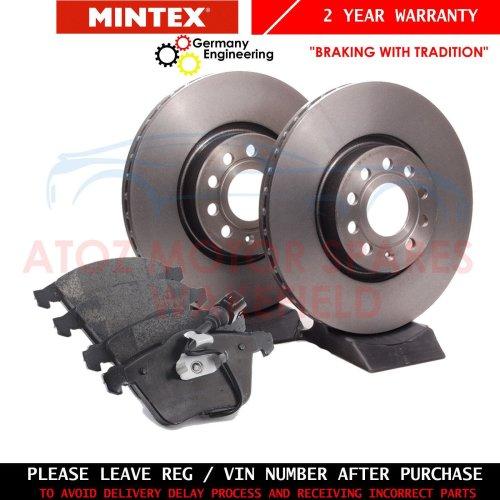 Fits Volvo V40 VW 1.9 DI Genuine Mintex Rear Coated Solid Brake Discs Set Pair