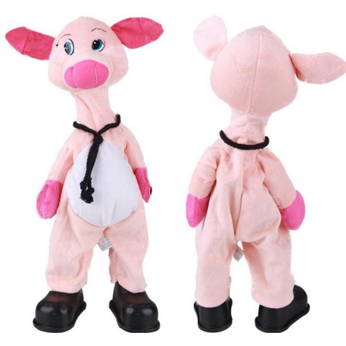 Funny Musical Dancing Electronic Stuffed Pig Bobbleheads/Practical Jokes Toys