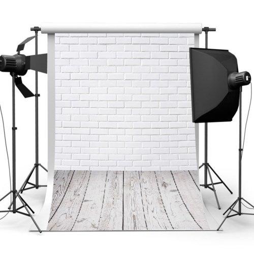 3x5FT White Brick Wall Floor Photography Backdrop Studio Prop Background