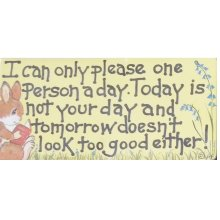 I Can Only Please One Person A Day Fridge Magnet Fun Funny Novelty Gift Humour Humourous Quotes Joke Kitchen