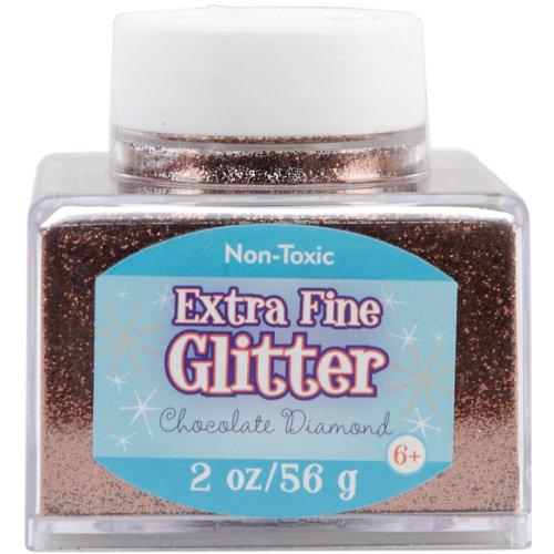 Extra Fine Glitter 2oz-Chocolate