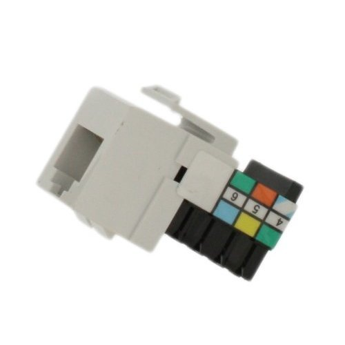 Leviton 41106 RW6 Voice Grade QuickPort Connector White