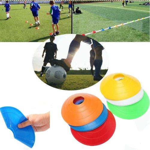 10 PCS Football Training Speed Disc Cone Cross  Roadblocks