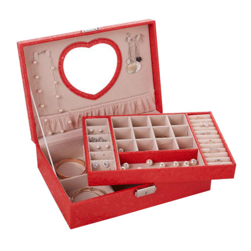 Big Travel Jewelry Box For Ring / Watch / Necklace / Earring -A17