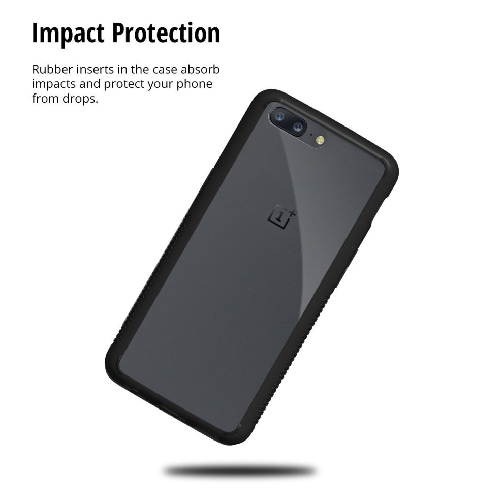 online store c672d 6e8dc ORZLY® OnePlus 5 Case, Fusion Bumper Case for ONE PLUS FIVE Model  SmartPhone (Original 2017 Version) Protective Hard Back Cover Shell with  BLACK...