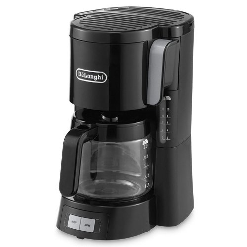 De'Longhi Filter Coffee Maker 1.3L 10 Cup with Aroma Function & 2 Speeds - Black