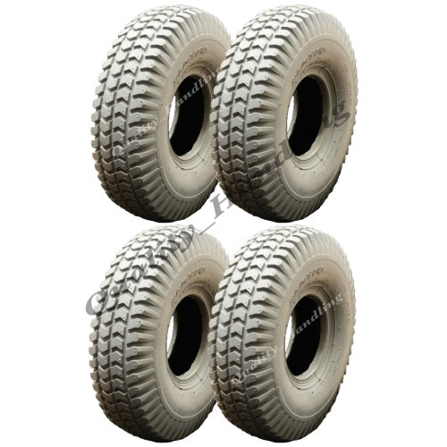 Grey Mobility Scooter tyre 260x85 non marking - set of 4, Wanda P1092.