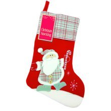 Eurowrap Xmas 18 Inch Red Stocking - Santa -  eurowrap xmas 18 inch red stocking santa