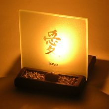 LOVE T-Light Holder With Enlightened Display. A Neat Little Gift Set