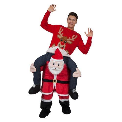 Carry Me Piggy Back Santa Claus Costume   Christmas