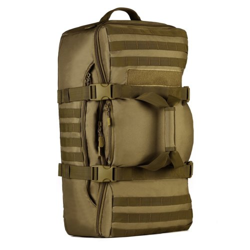 Huntvp 60L Hiking Backpack Rucksack Tactical Military Gear 3 Way Bag Handbag Crossbody Bags Outdoors Travelling Camping Trekking Brown