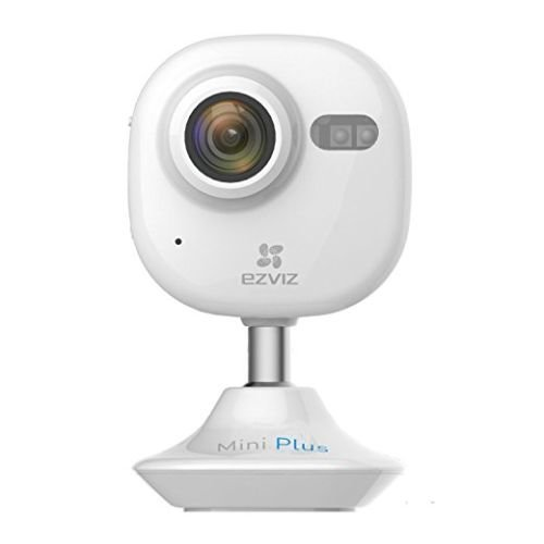 EZVIZ Wireless 1080P Mini Plus Indoor Cloud Camera, 2.4/5GHz, 7.5m Night Vision, 2-way Audio, Micro SD/Cloud Storage, White