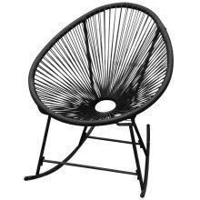 vidaXL Garden Rocking Chair Poly Rattan Black