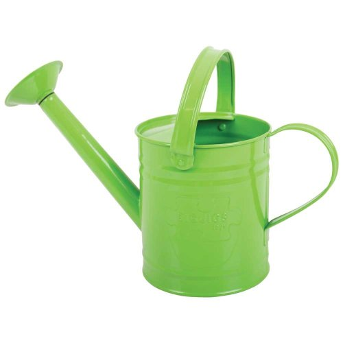 Bigjigs Toys Children's Green Watering Can with Top and Side Handle - Garden Tools for Kids