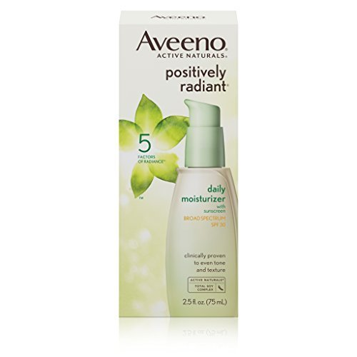 Aveeno Positively Radiant Daily Facial Moisturizer With Broad Spectrum Spf 30, 2.5 Fl. Oz