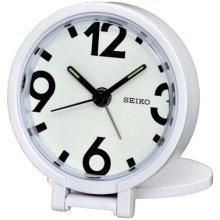 Seiko Travel Alarm Clock, White (QHT011W)