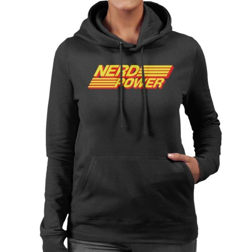 Nerd Power Women's Hooded Sweatshirt