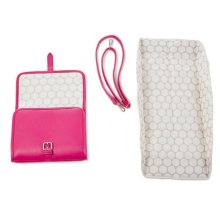 Lin & Leo Small Pink Baby Changing Bag Portable Changing Mat
