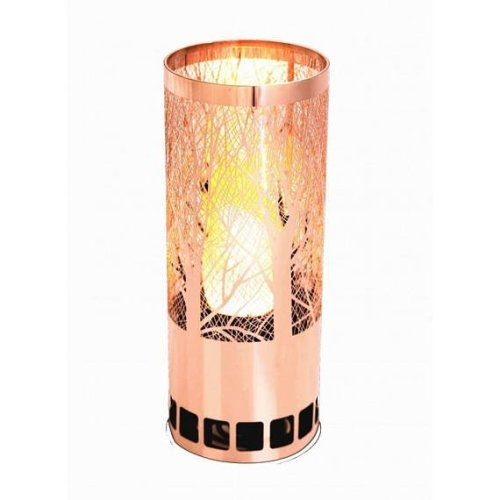 Silk Flame Effect Lamps - Round Forest Brazier in Copper