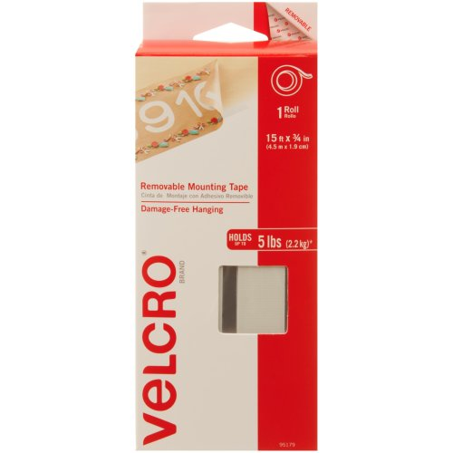 """Velcro(R) Brand Removable Mounting Tape Roll 15'X.75""""-Holds Up To 5lbs"""