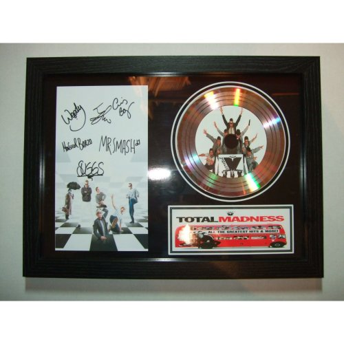MADNESS SIGNED GOLD DISC DISPLAY