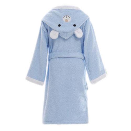 Children Cotton Bathrobe Soft Swim Bath Gown Robes Pajamas with Hat-A11