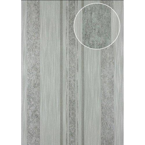 Atlas 24C-5059-2 Stripes wallpaper metallic highlights silver 7.035 sqm
