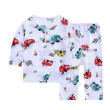 Boys Pajamas Fashion Truck Cotton Kids Clothes Short Sets Children Cartoon