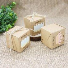 100PCS Kraft Paper Candy Boxes