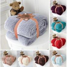 Teddy Bear Super Soft Cudly Blanket Sofa Throw Size 130 x 180cm