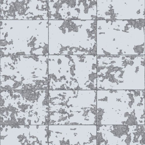 Muriva Loran Tile Pattern Wallpaper Faux Effect Brick Stone Metallic Vinyl L62609