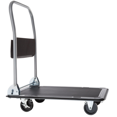 Folding Trolley with Brakes 150 kg black