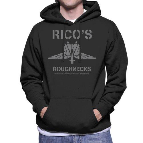 Starship Troopers Ricos Roughnecks Grey Logo Men's Hooded Sweatshirt