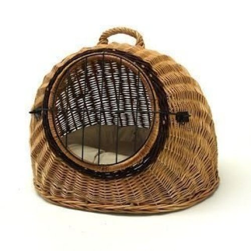 Large Wicker Igloo Pet Carrier