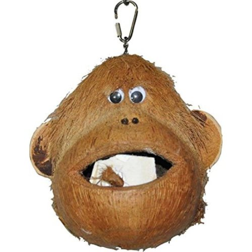"""A&E CAGE COMPANY HB46581 Happy beaks Coco Monkey Assorted Bird Toy, 6 by 6 by 6"""""""