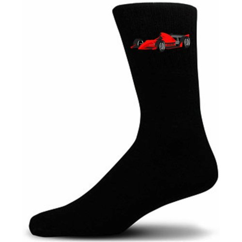 Black Socks With a  Red F1 Race Car.  Perfect for that gift for that special person in your life.