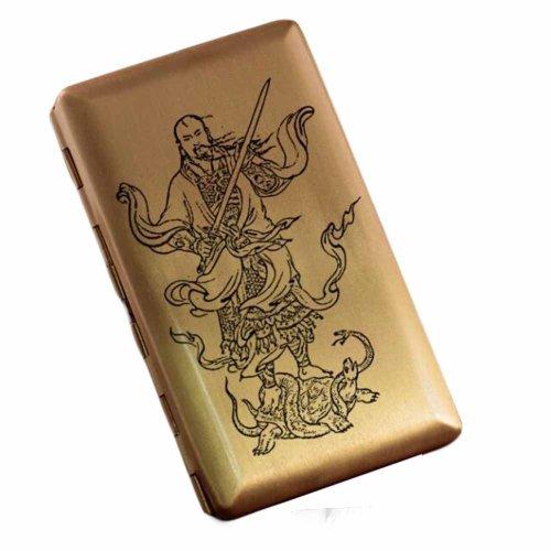 Chinese Style Brass Cigarette Case Metal Cigarette Storage Case Holder Creative Thin Cigarette Holder Box